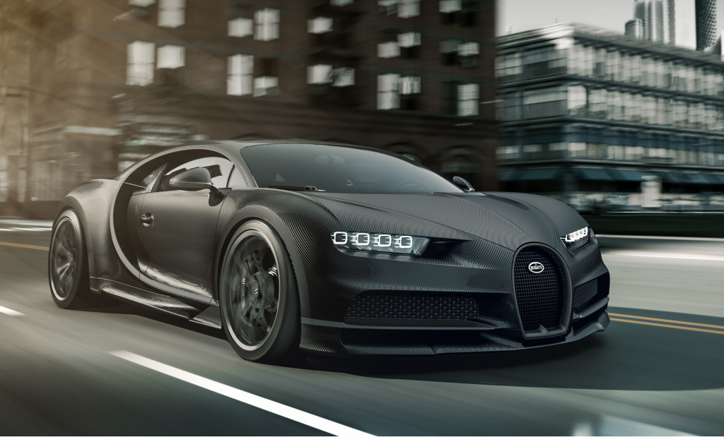 For lovers of black: Special Bugatti Chiron honors La Voiture Noire