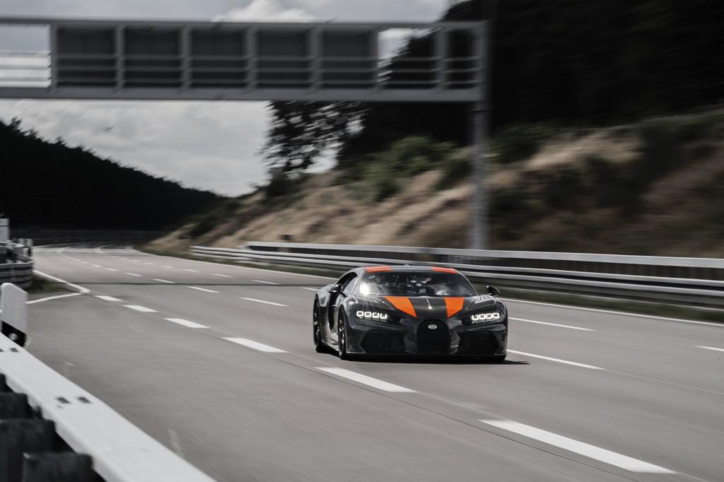 Bugatti Chiron production prototype derivative hits 300 mph