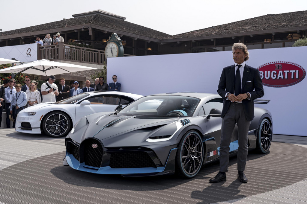 Stephan Winkelmann at the launch of the Bugatti Divo