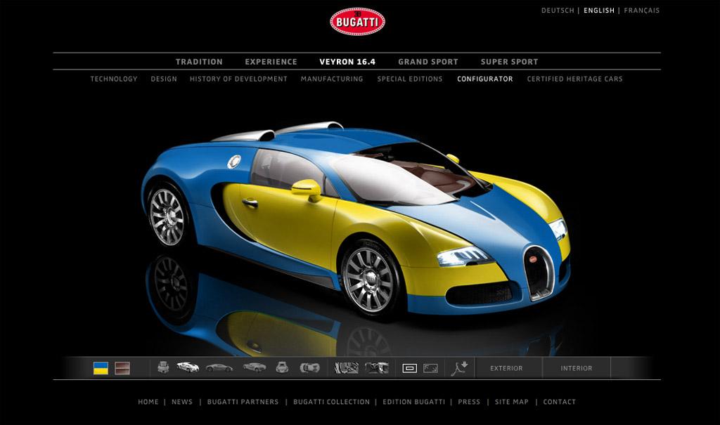 bugatti veyron gets new online configurator