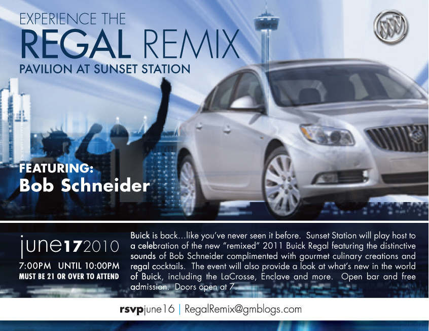 Buick 'Regal Remix' invitation
