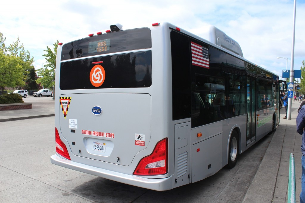Image: BYD K9 All-Electric Bus, as tested in Portland OR ...