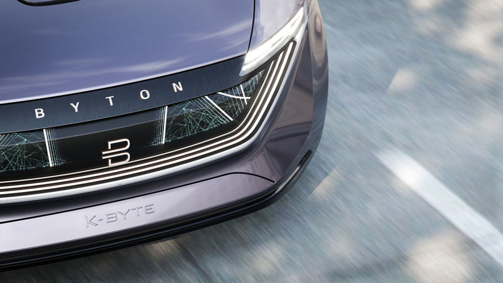 Electric car startup Byton hints at sedan with K-Byte concept