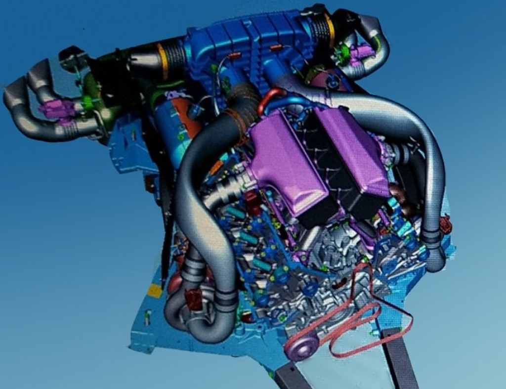 CAD images of the mid-engine Chevrolet Corvette - Image via Michael Accardi