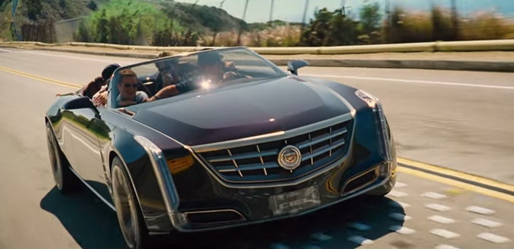 Drama Drives A Cadillac Ciel Four Door Convertible In Entourage Movie Video