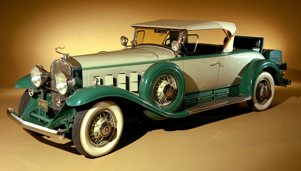 Cadillac unveiled its V16 passenger car engine for the 1930 model year