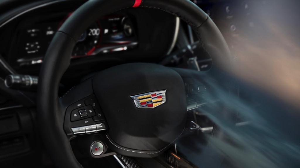 Teaser for 2022 Cadillac CT5-V Blackwing debuting in 2021