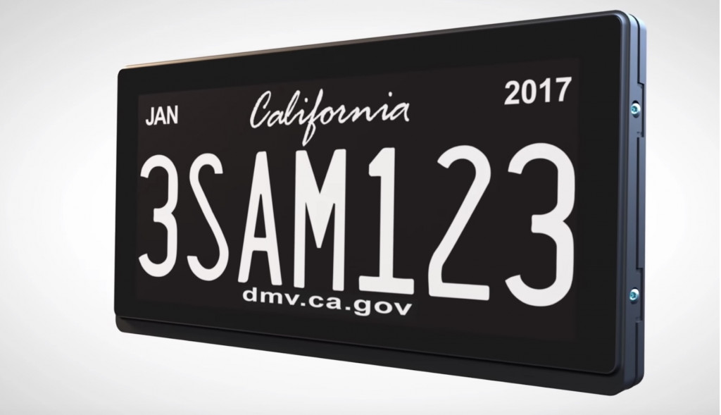 California digital license plate