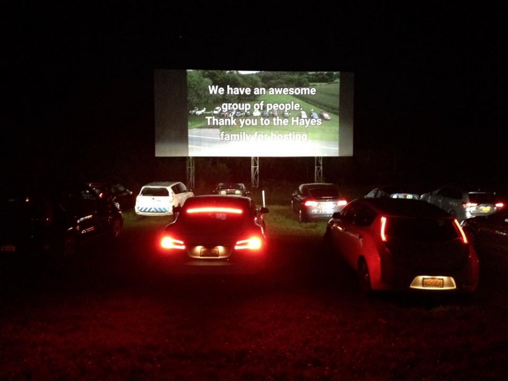 First All Electric Drive In Movie Event In The Us In Upstate New York