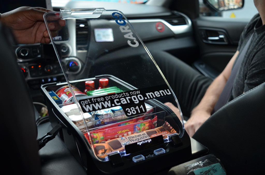 Cargo in-car convenience store brings snacks and gum to your Uber