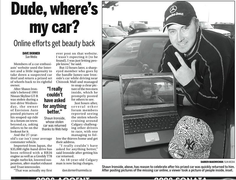 Catching a Car Thief Using Social Media