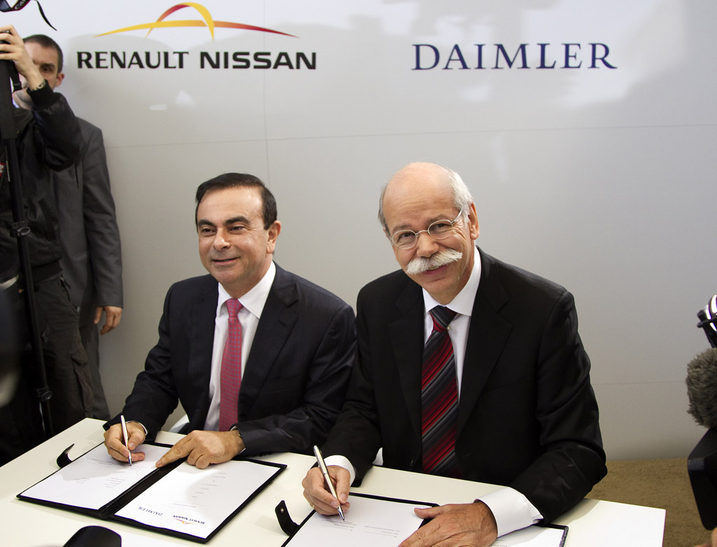 CEOs of Renault-Nissan and Daimler