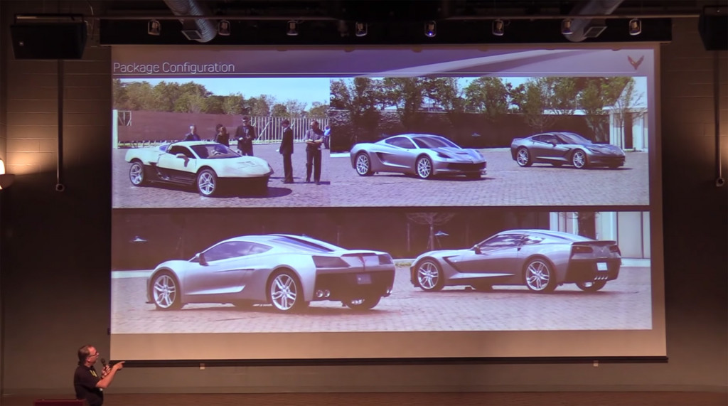 Design sketches that led to the mid-engine C8 2020 Chevrolet Corvette
