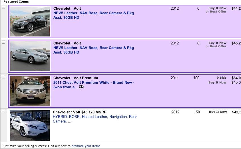 Chevrolet Votls for sale on eBay