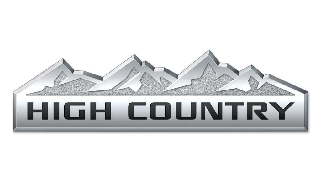 Chevy Silverado High Country badge