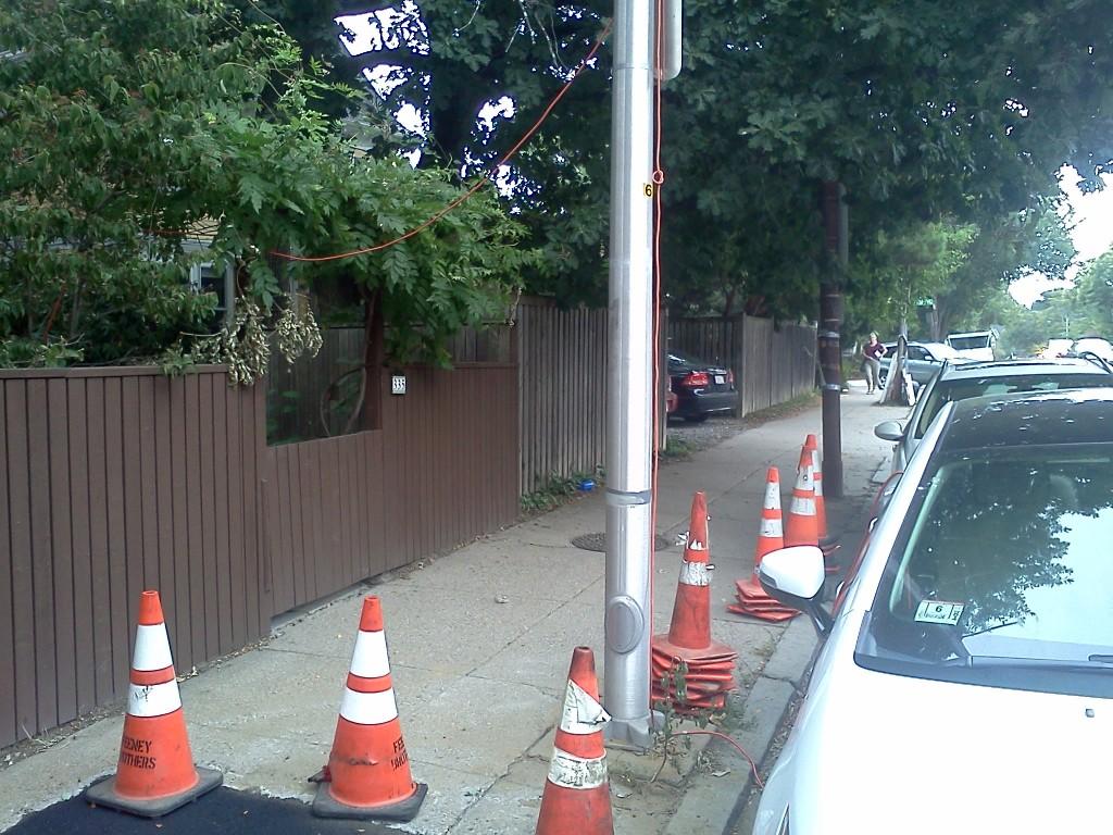 Chevy Volt recharging on the street in Cambridge, MA   [photos: John C. Briggs]