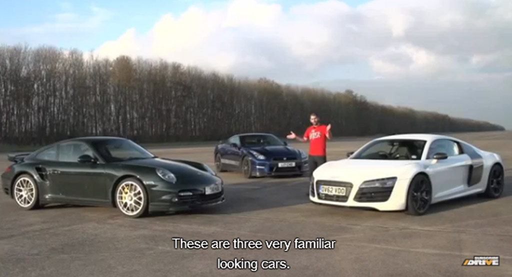 Chris Harris and three of the world's best sports cars