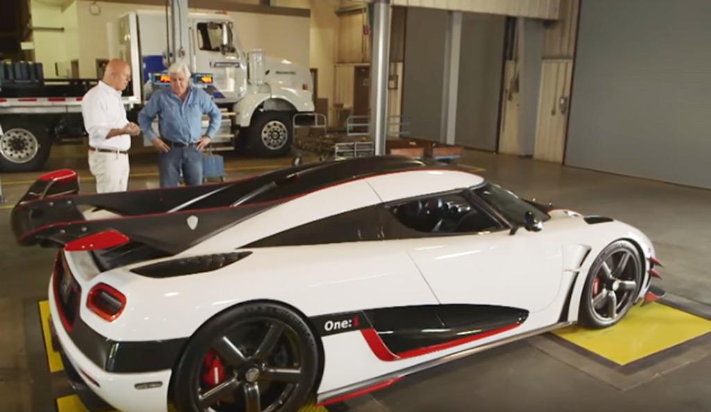 Jay Leno Car: Jay Leno Drives The 1,341-hp Koenigsegg One:1