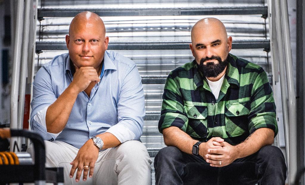 Christian von Koenigsegg (left) and Sasha Selipanov