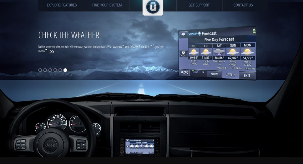 Chrysler's DriveUconnect website for Uconnect owners