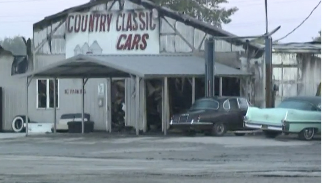Classic cars destroyed at Country Classic Cars