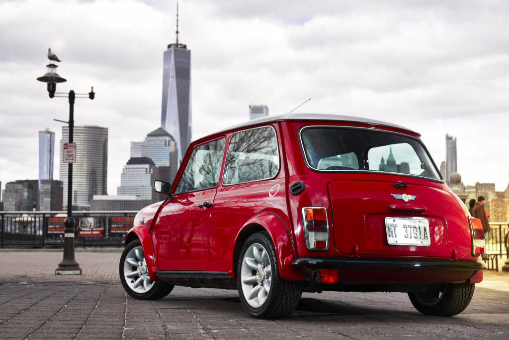 Classic Mini made electric for New York auto show