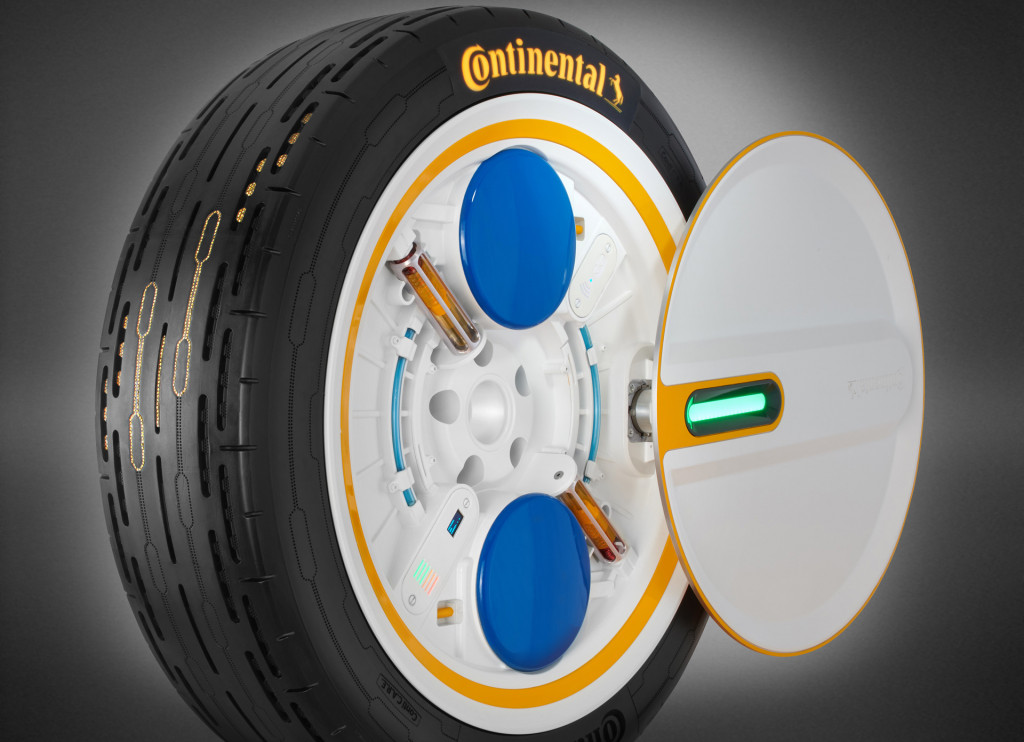 Continental's latest tire concept inflates itself as it rolls