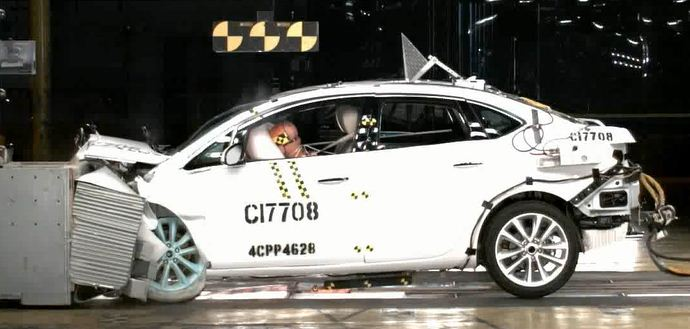 Crash testing the Buick Verano