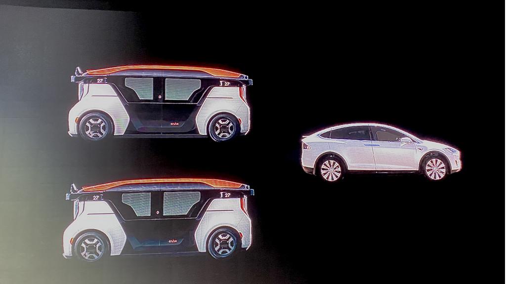 Cruise Origin driverless vehicle
