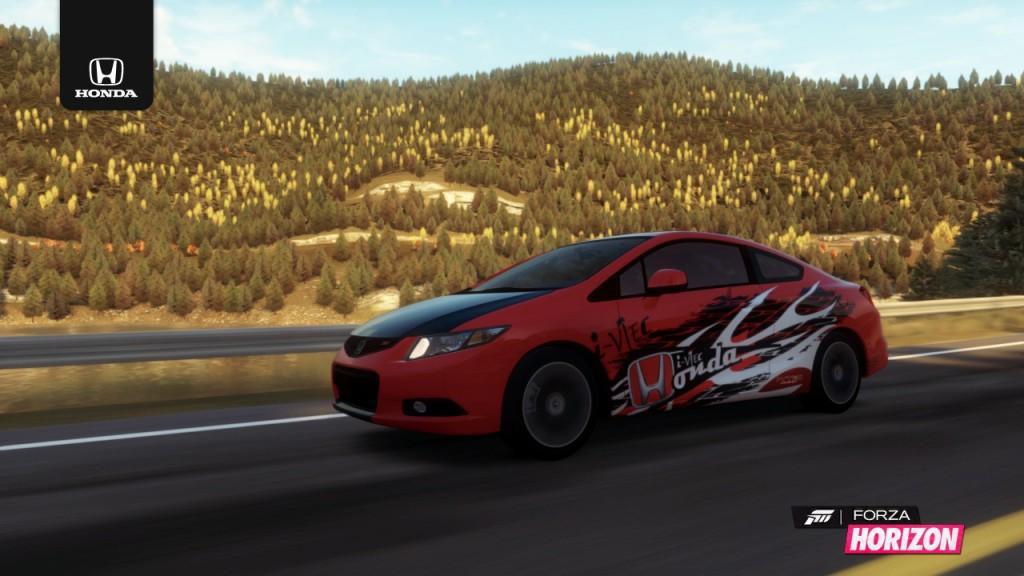 Custom Honda Civic Si designed by Forza Motorsport gamer Tiffany Labedz