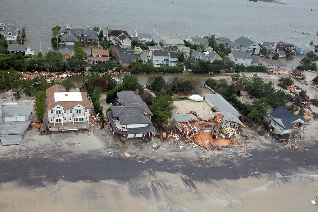 Damage caused by Hurricane Sandy to the New Jersey coast