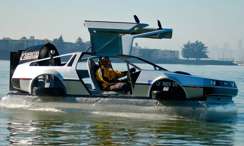 Delorean Hovercraft Hoons San Francisco Bay Blows Our