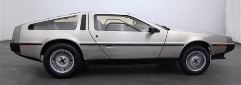 DeLorean with doors closed