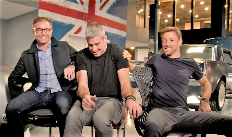 Designer Mark Stubbs (from left), TV personality Ant Anstead and F1 champ Jenson Button