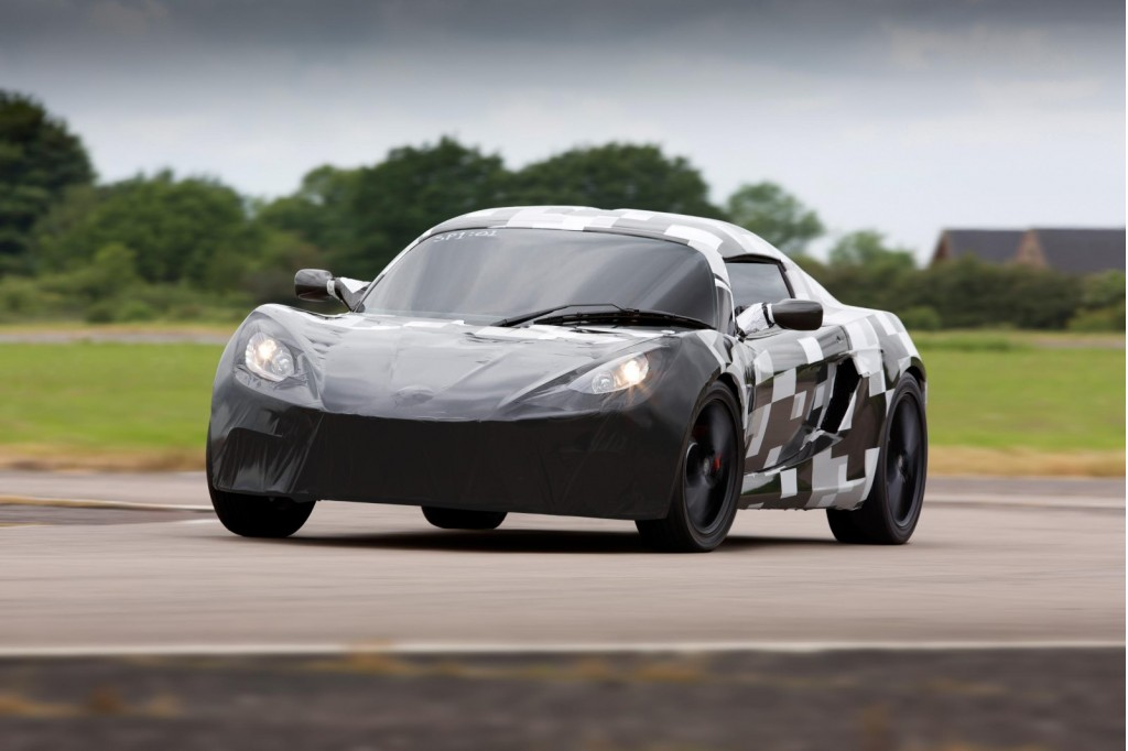 Detroit Electric SP:01 electric sports car tests in Europe