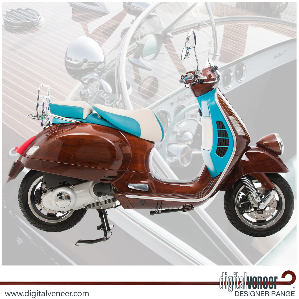 Get Wood In The City With Veneered 'Tribute' Vespa