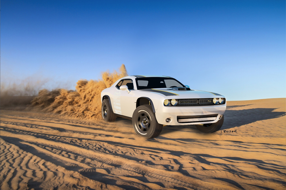 Dodge Challenger A T Untamed Concept Goes Where No