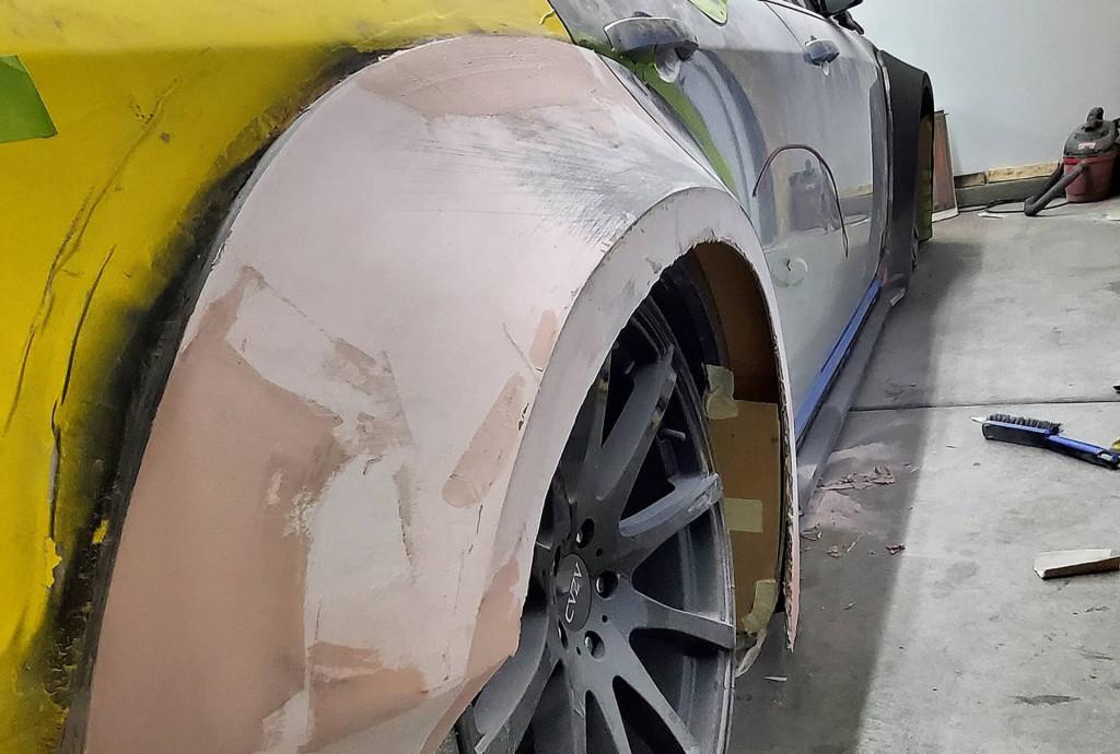 Dodge Magnum Charger SRT Hellcat Widebody conversion - Photo credit: Jaye Fab