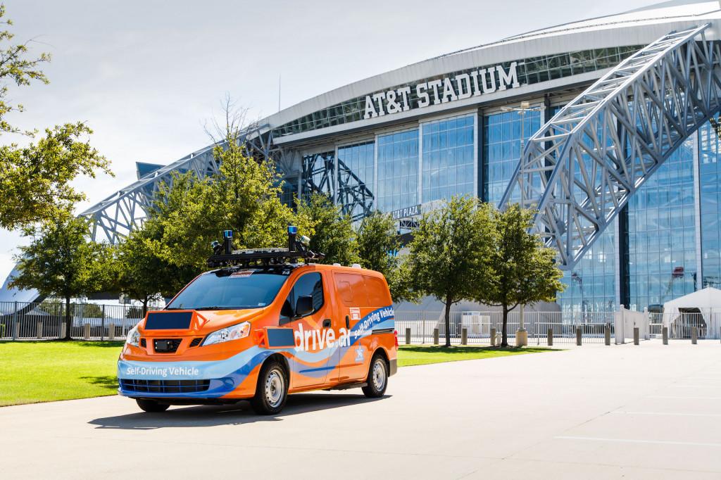 Drive.AI self-driving car in Arlington, Texas