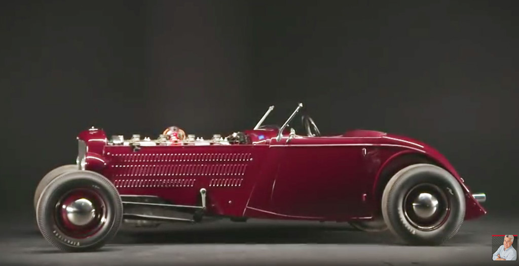 Rare Duesenberg hot rod visits Jay Leno's Garage