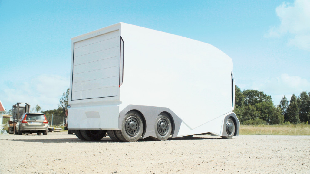 Einride T-pod, autonomous electric truck prototype