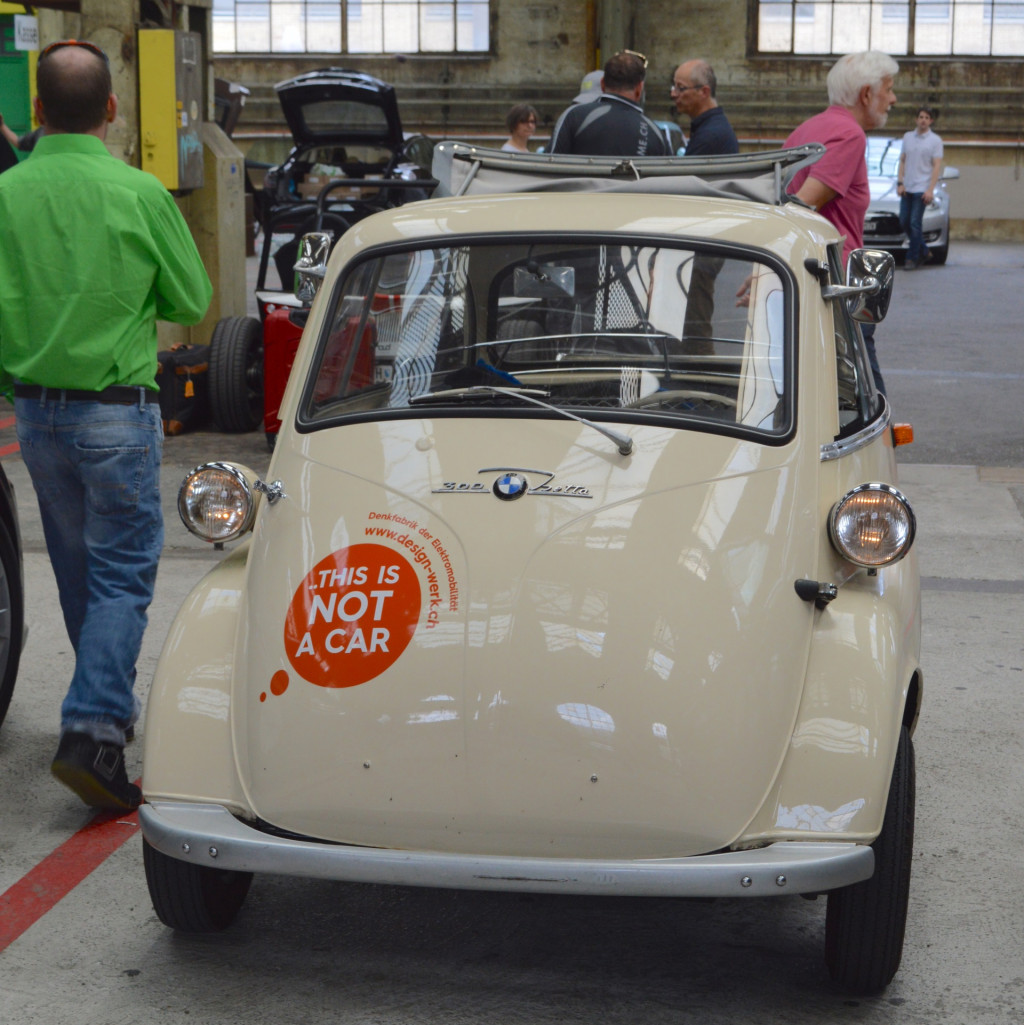 Electric BMW Isetta at start of WAVE Rally, June 2018, Wintertur, Switzerland [WORLDREACH PHOTO]
