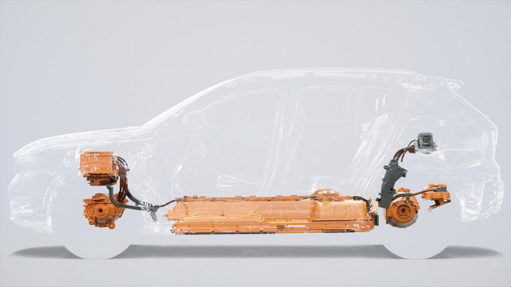 Electric Volvo XC40's powertrain