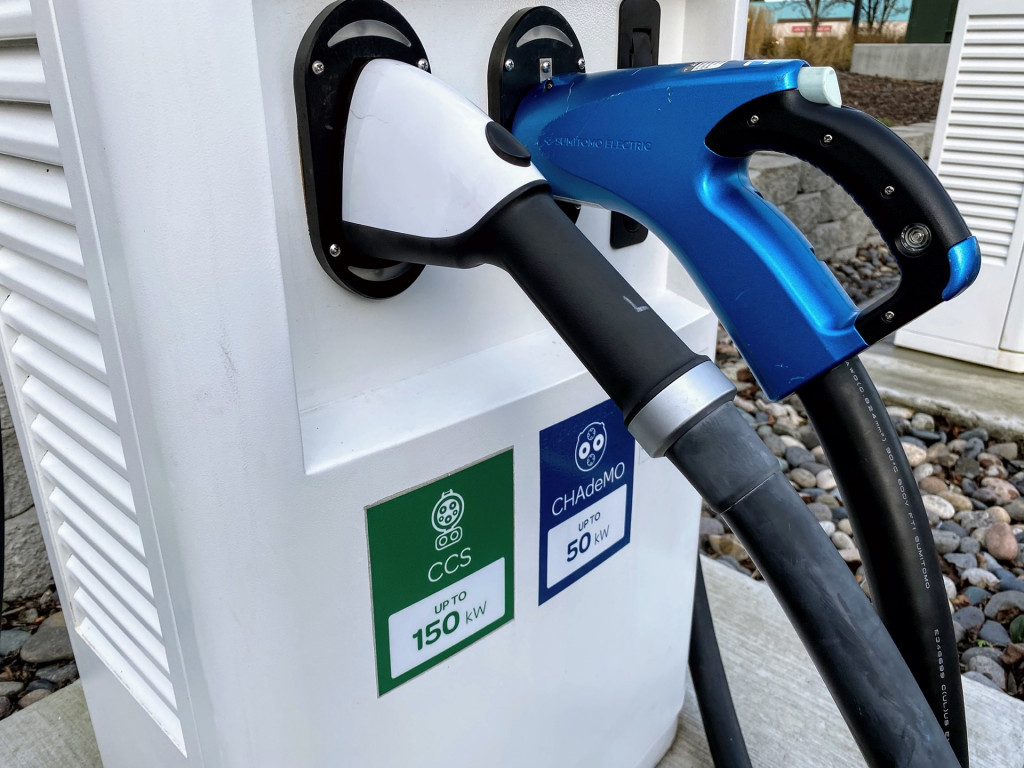 Electrify America DC fast-chargers - CCS and CHAdeMO