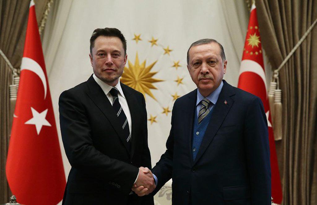 Elon Musk and Turkish President Recep Tayyip Erdogan