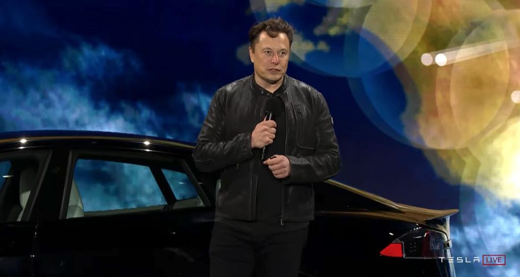 Elon Musk at Tesla Model S Plaid deliver event - June 2021