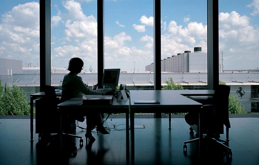 Employee at Ferrari's headquarters in Maranello, Italy