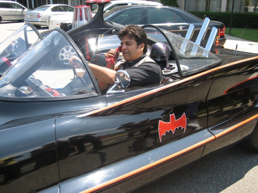 Erik Estrada in the Batmobile