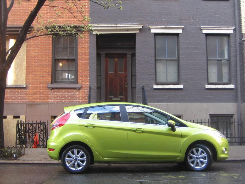 Euro-spec 2011 Ford Fiesta on New York City side street