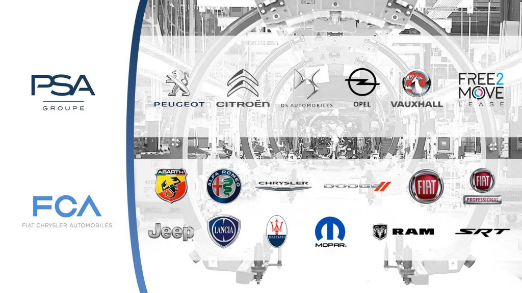 FCA and PSA Group brands